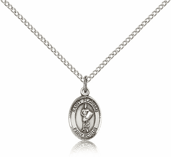 Small Sterling Silver St. Florian Pendant by Bliss Manufacturing