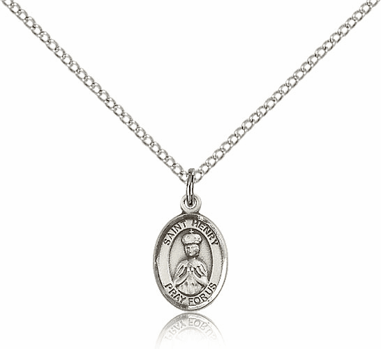 Bliss Manufacturing Small St Henry II Sterling Silver Pendant Necklace