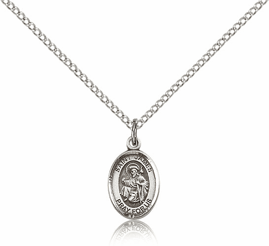 Small Sterling Silver St. James the Greater Saint Medal