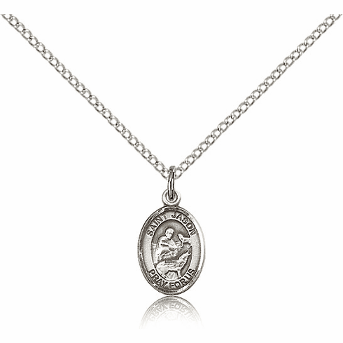 Small Sterling Silver St. Jason Medal