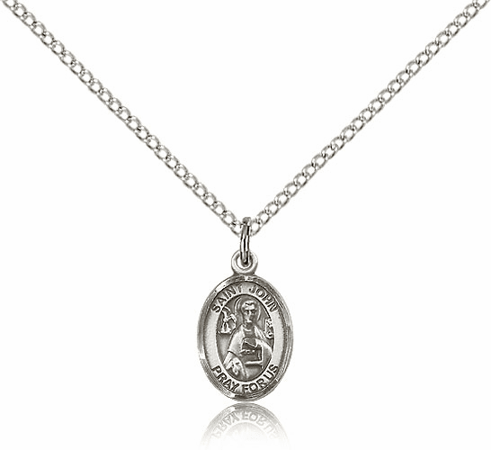 Small Sterling Silver St. John the Apostle Pendant