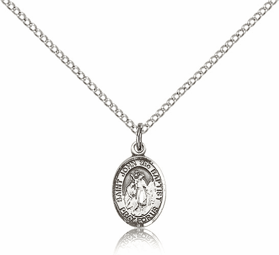 Small Sterling Silver St. John the Baptist Pendant