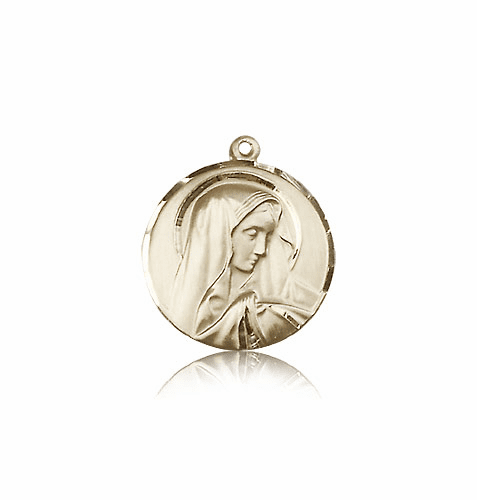 Sorrowful Mother 14kt Solid Gold Medal Pendant by Bliss