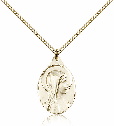 Sorrowful Mother Gold Filled Pendant Necklace By Bliss