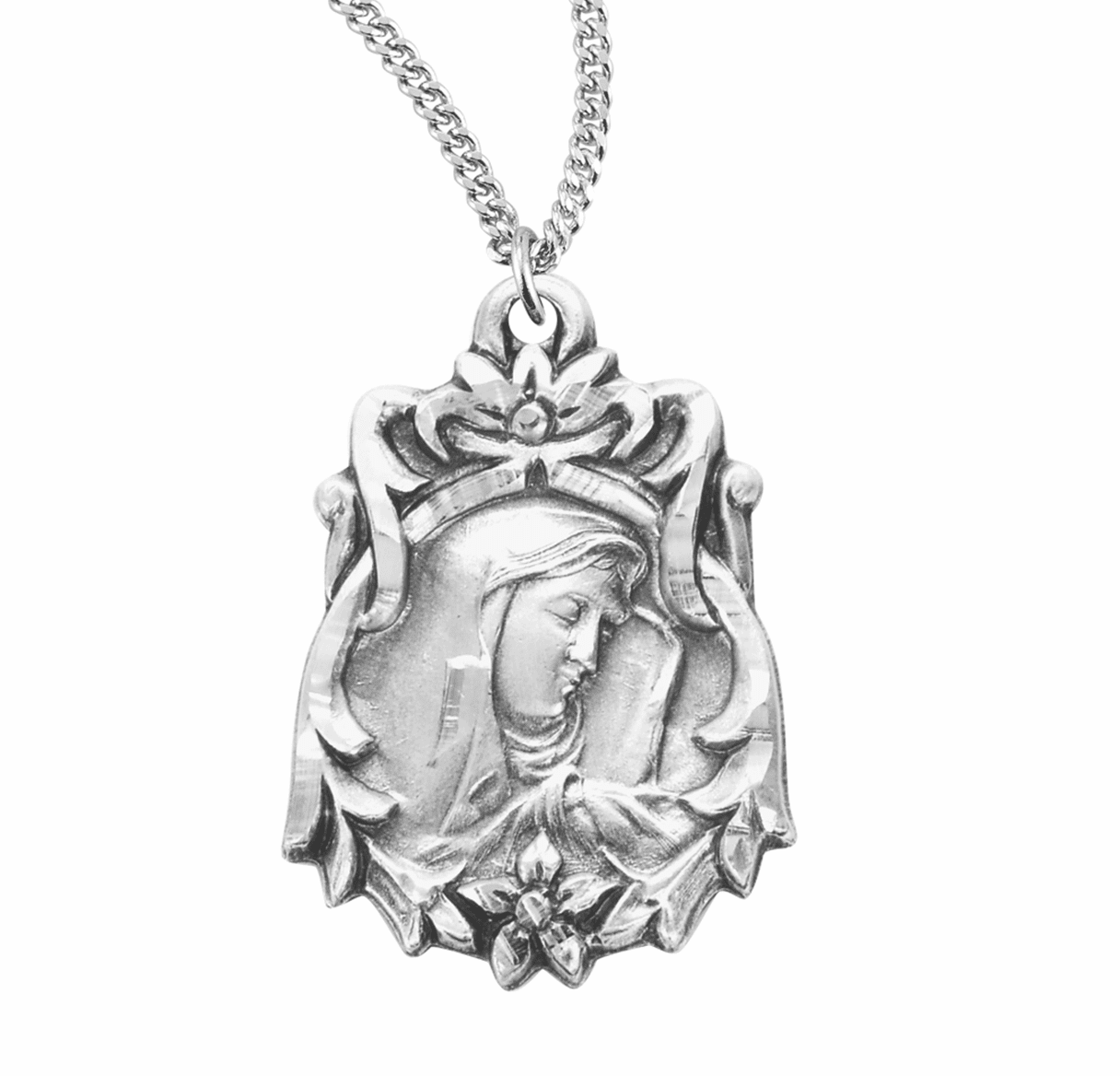"""Sorrowful Mother Medal w/18"""" Chain Necklace by HMH Religious"""