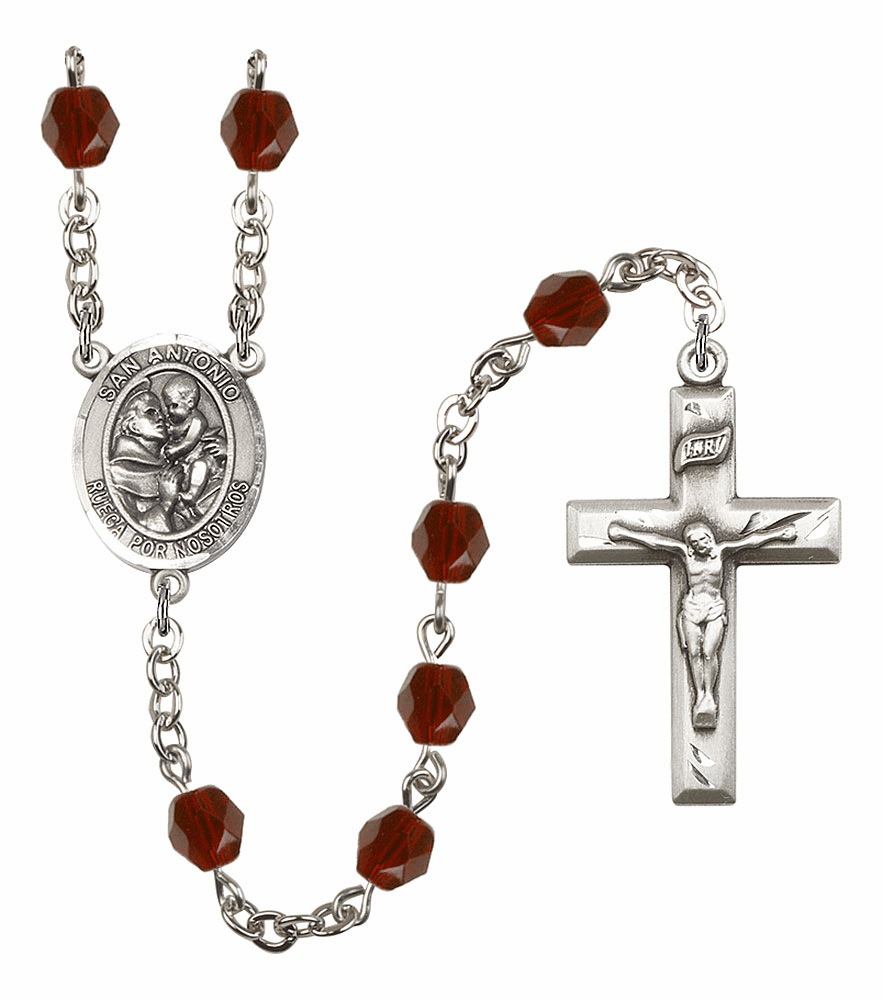 Spanish San Antonio Silver-Plated Rosaries