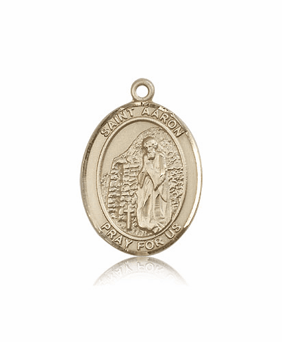 St Aaron 14kt Gold Patron Saint Medal by Bliss Manufacturing