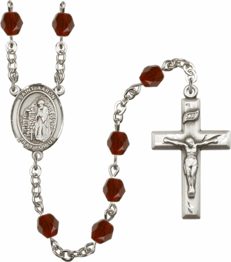 """Bliss St Aaron Silver Plate Birthstone Crystal Prayer Rosary """"More Colors"""""""