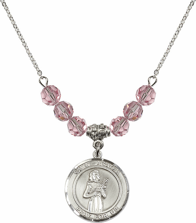 St Agatha Beaded Necklace Jewelry
