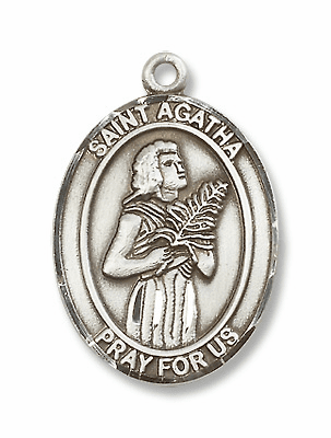 St Agatha Patron Saint for Nurses/Breast Cancer Jewelry & Gifts