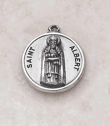 St Albert Patron Saint Medal Necklace by Creed Jewelry