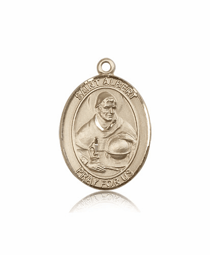 St Albert the Great 14kt  Gold Saint Medal by Bliss