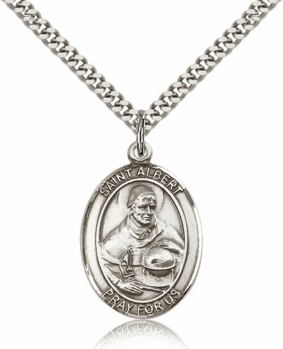 St Albert the Great Silver Saint Medal Necklace by Bliss