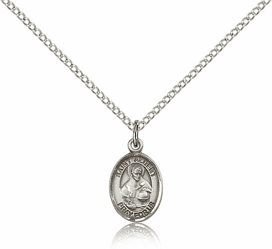 St. Albert the Great Sterling Silver Patron Saint Medal by Bliss