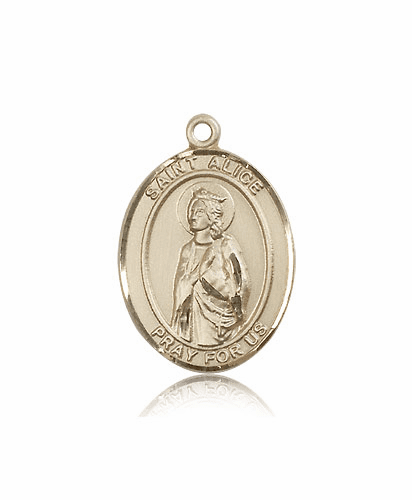 St Alice 14kt Gold Saint Medal by Bliss Manufacturing