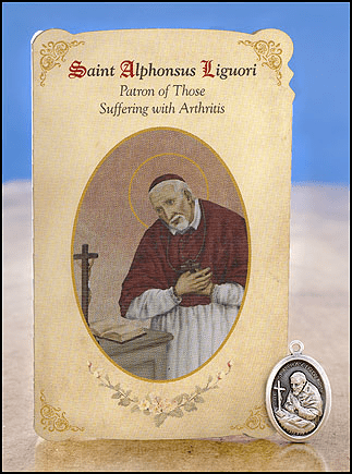 St Alphonsus Liguori Arthritis Healing Holy Cards w/Medals 6 pcs by Milagros