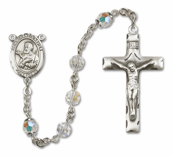 "Bliss St Ambrose Swarovski Crystal Sterling, Gold-filled and 14kt Gold Rosary ""More Options"""