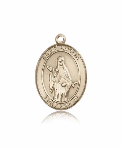 St Amelia 14kt Gold Patron Saint Medal by Bliss