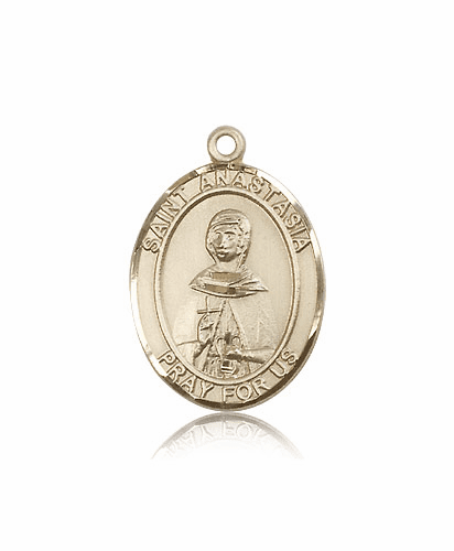 St Anastasia 14kt Gold Patron Saint Medal by Bliss