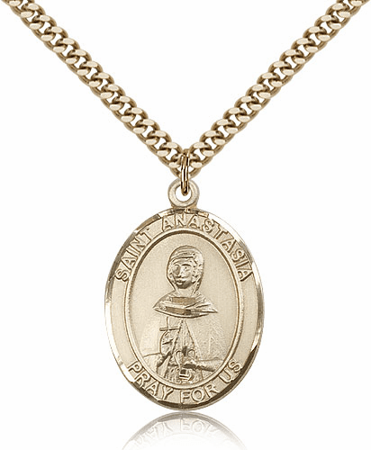 St Anastasia Gold Filled Patron Saint Medal by Bliss Manufactuing