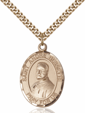 St Andre Bessette Patron Saint 14kt Gold-Filled Medal Necklace by Bliss