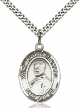 St Andre Bessette Patron Saint Sterling Silver Necklace by Bliss