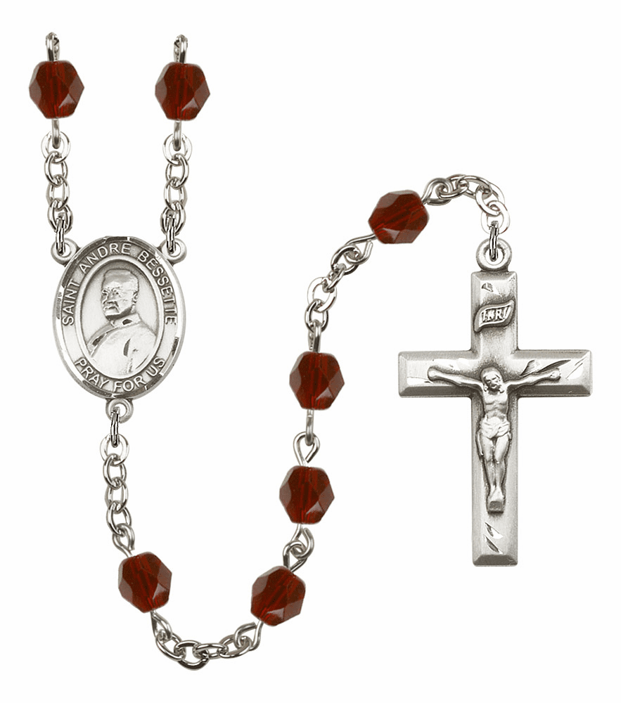 "Bliss St Andre Bessette Birthstone Crystal Prayer Rosary ""More Options"" by Bliss"