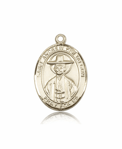 Bliss Manufacturing St Andrew of Kim Taegon 14kt Gold Medal