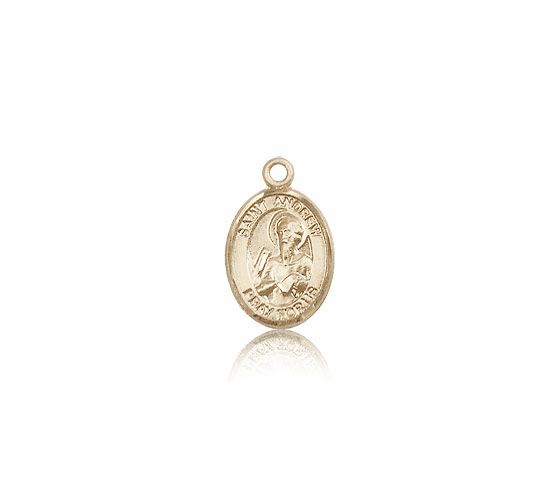 St. Andrew the Apostle 14kt Gold Patron Saint Medal by Bliss