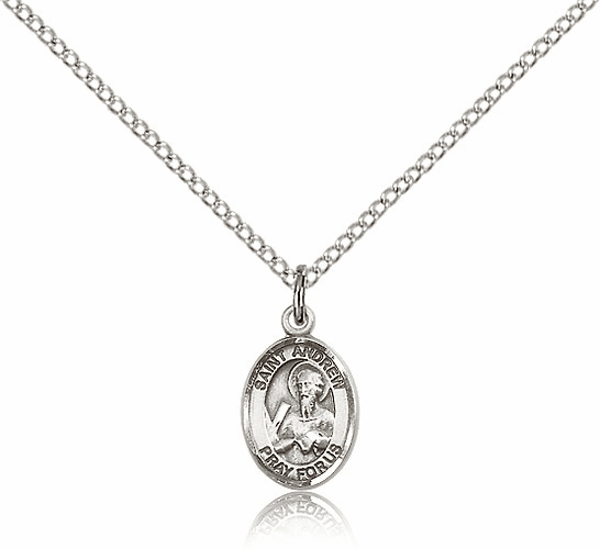 St. Andrew the Apostle Sterling Silver Patron Saint Medals by Bliss