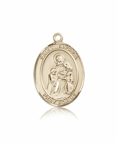 St Angela Merici 14kt Gold Patron Saint Medal Necklace by Bliss Mfg