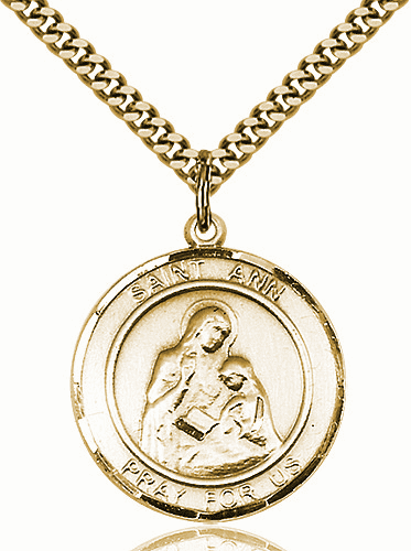 St Ann Large Patron Saint 14kt Gold-filled Medal by Bliss