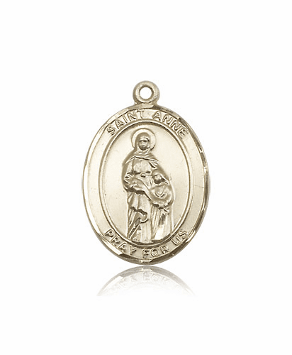 St Anne 14kt Gold Patron Saint Medal by Bliss
