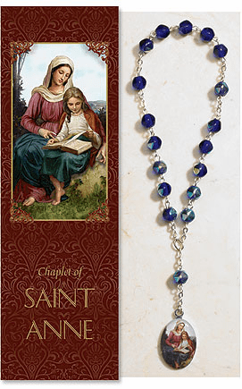 St Anne Mother of Mary Catholic Prayer Chaplet Sets 3ct by Milagros