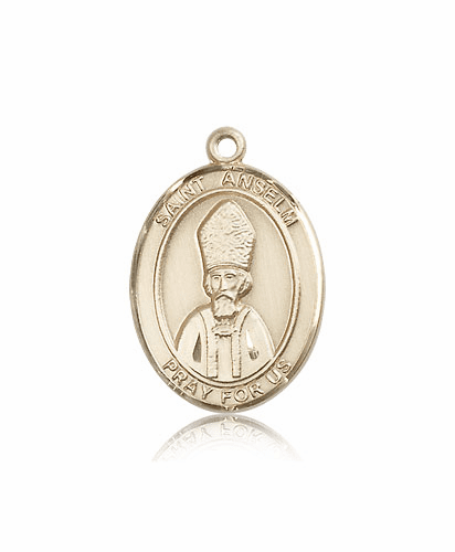 Bliss Manufacturing St Anselm of Canterbury 14kt Gold Saint Medal
