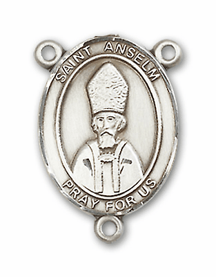 St Anselm of Canterbury Patron Saint Rosary Center by Bliss
