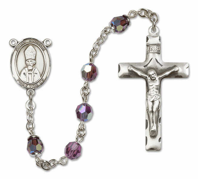 """Bliss St Anselm Swarovski Crystal Sterling, Gold-filled and 14kt Gold Rosary """"More Options"""""""