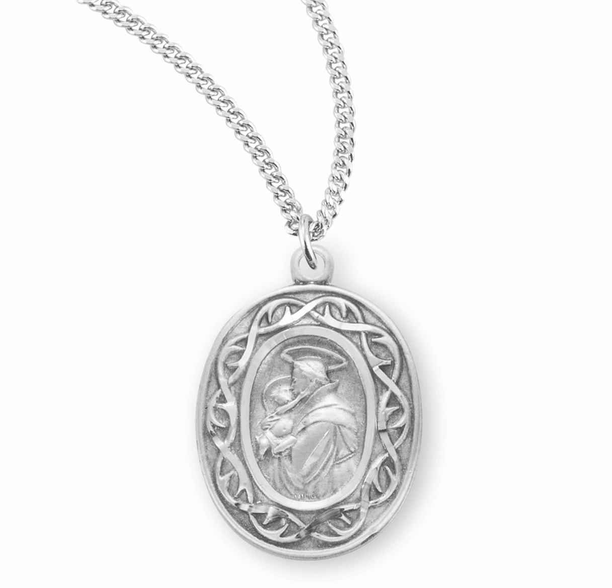 St Anthony Crown of Thorns Medal Necklace by HMH Religious