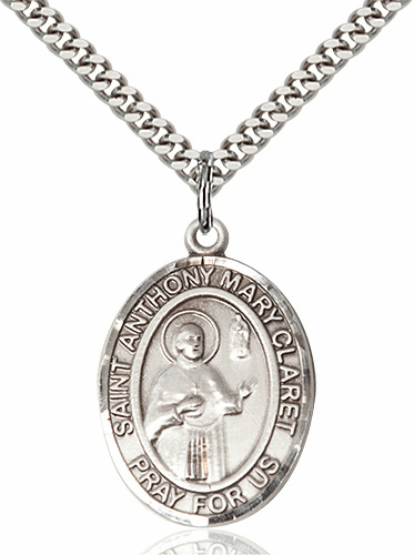 St Anthony Mary Claret Pewter Patron Saint Necklace by Bliss