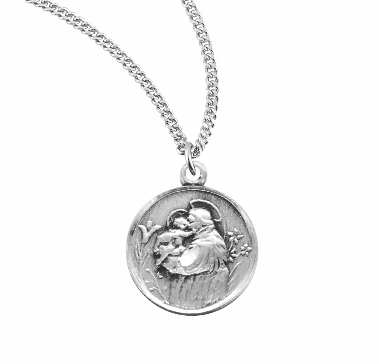 St. Anthony Medal w/Child Jesus Necklace by HMH Religious