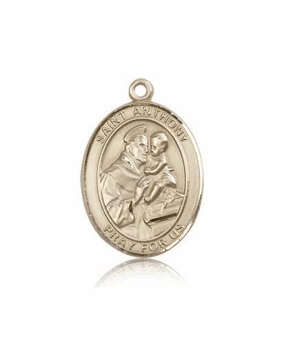 St Anthony of Padua 14kt  Gold Saint Medal by Bliss Manufacturing
