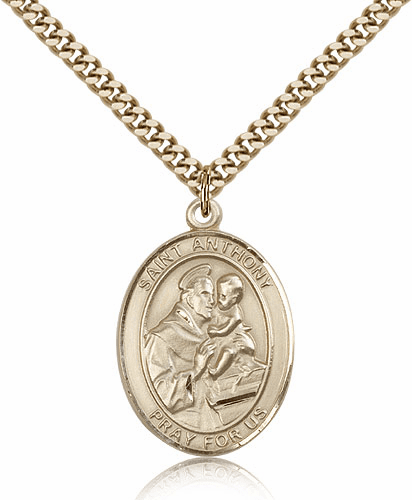Bliss Manufacturing St Anthony of Padua Gold Filled Saint Medal