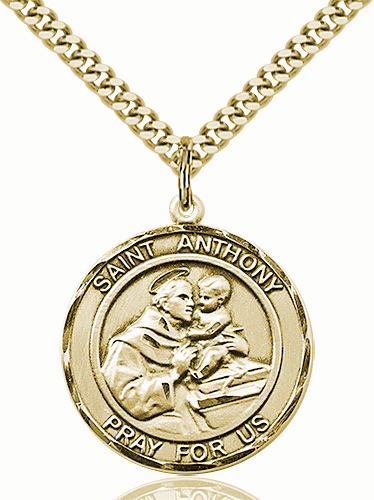 St Anthony of Padua Large Patron Saint 14kt Gold-filled Medal by Bliss