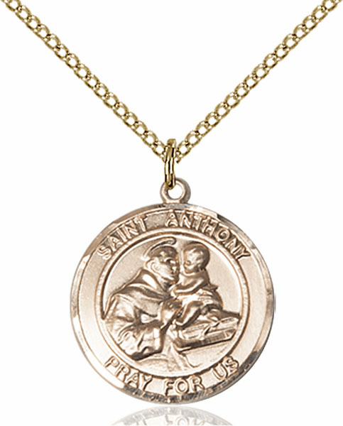 St Anthony of Padua Medium Patron Saint 14kt Gold-filled Medal by Bliss