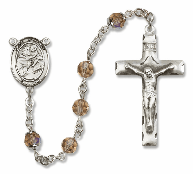 St Anthony of Padua Sterling Silver, Gold-filled and 14k Gold Rosaries