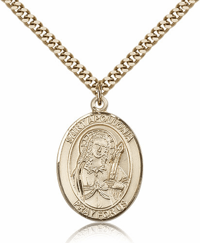 St Apollonia 14kt Gold Filled Saint Medal by Bliss Manufacturing