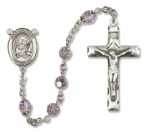 St Apollonia Swarovski Crystal Patron Saint Catholic Prayer Rosary