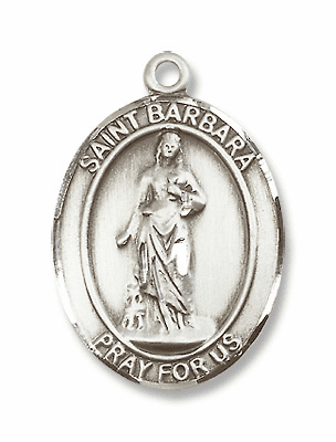 St Barbara Patron Saint of Architects/Sudden Death Medals & Gifts