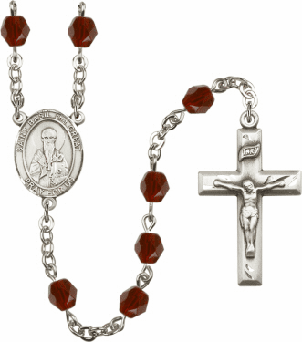St Basil the Great Birthstone Crystal Prayer Rosary by Bliss - More Colors