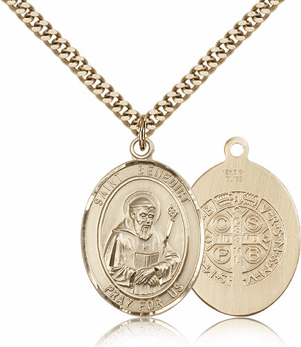 St Benedict Gold-Filled and Gold-plated Medals